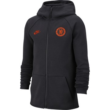 Veste survêtement junior Chelsea Tech Fleece noir orange 2019/20