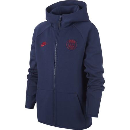 Veste survêtement junior PSG Tech Fleece bleu 2019/20