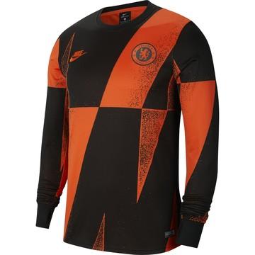 Maillot avant match Chelsea manches longues noir orange 2019/20