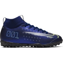 Mercurial Superfly junior VII turf bleu