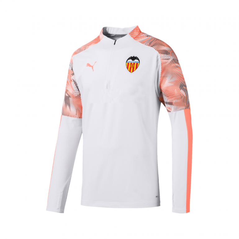 Sweat zippé Valence blanc orange 2019/20