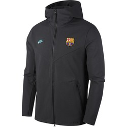 Veste survêtement FC Barcelone Tech Fleece noir vert 2019/20