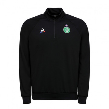 Sweat zippé junior ASSE noir 2019/20