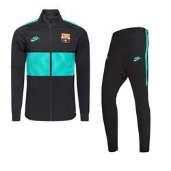 Ensemble survêtement junior FC Barcelone noir vert 2019/20