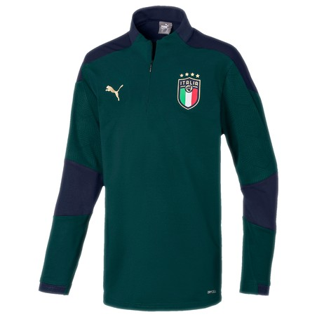 Sweat zippé junior Italie vert 2020