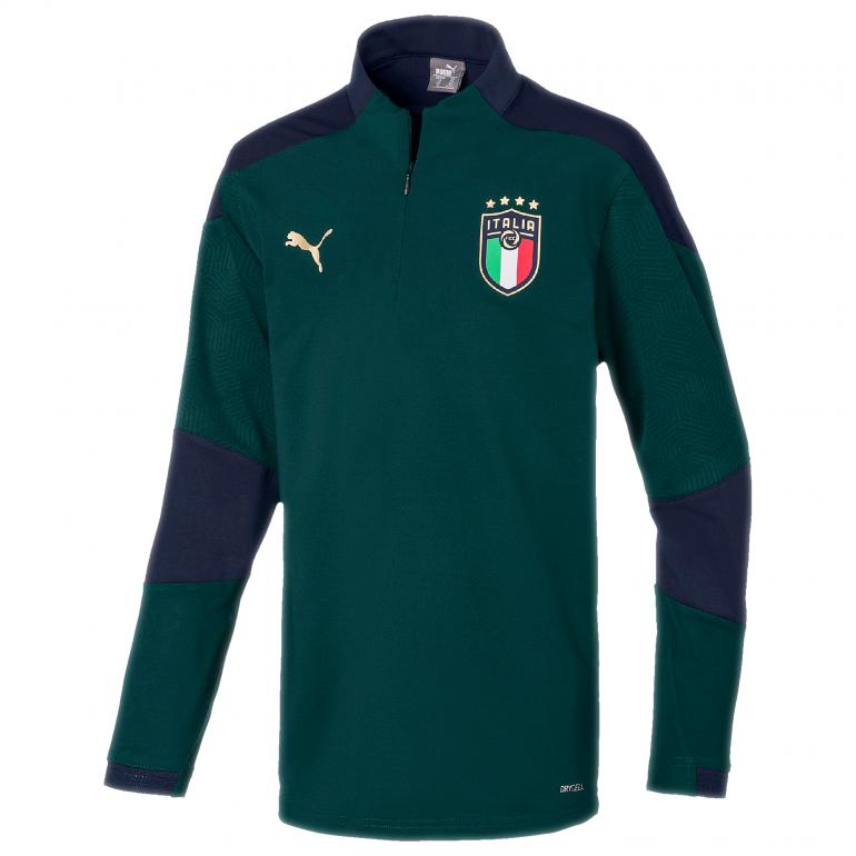 Sweat zippé junior Italie vert 2020