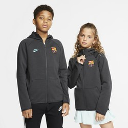 Veste survêtement junior FC Barcelone Tech Fleece gris 2019/20