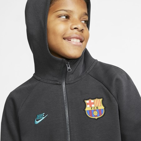 Veste survêtement junior FC Barcelone Tech Fleece gris 2019/20