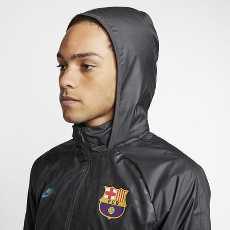 Coupe vent FC Barcelone noir 2019/20