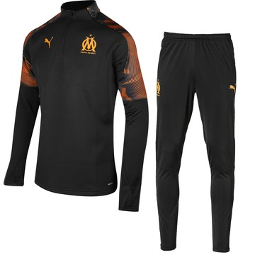Ensemble survêtement OM Fleece noir orange 2019/20