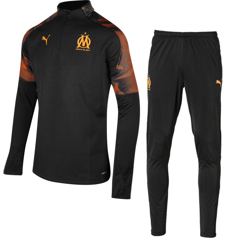 Ensemble survêtement OM Fleece noir orange 201920 sur