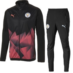 Ensemble survêtement Manchester City Stadium noir orange 2019/20