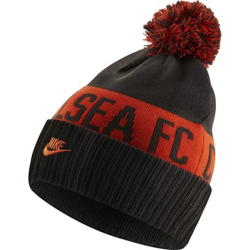 Bonnet pompon Chelsea noir orange 2019/20