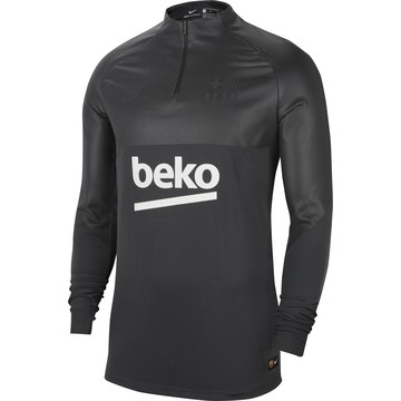 Sweat zippé FC Barcelone VaporKnit noir 2019/20
