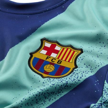 Maillot avant match manches longues FC Barcelone vert bleu 2019/20