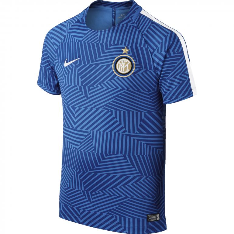 Maillot Avant Match Junior Inter Milan bleu 2016 - 2017