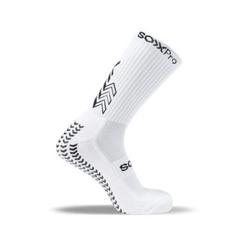 Chaussettes SOXPRO Grip & Anti Slip blanc