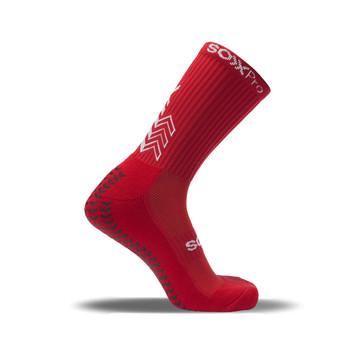 Chaussettes SOXPRO Grip & Anti Slip rouge