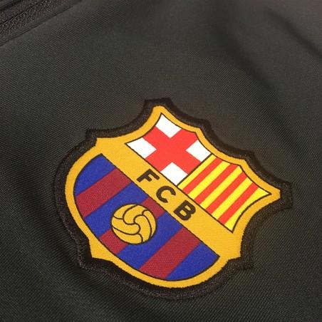 Sweat zippé FC Barcelone noir vert 2019/20