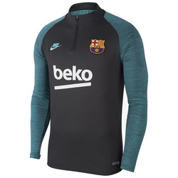 Sweat zippé junior FC Barcelone gris vert 2019/20