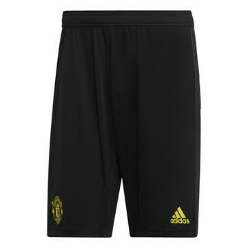 Short entraînement Manchester United noir jaune 2019/20