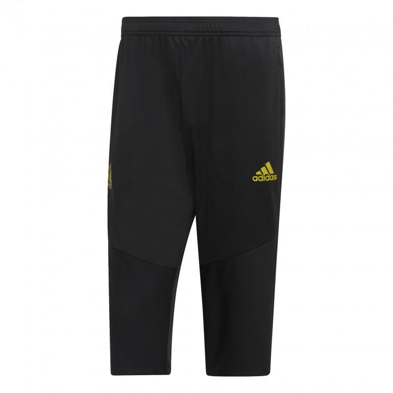 Pantalon survêtement Manchester United 3/4 noir jaune 2019/20