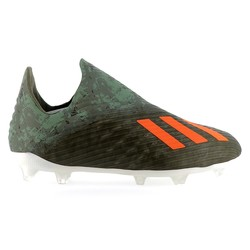 X 19+ junior Laceless FG vert orange