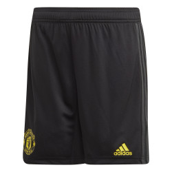 Short entraînement junior Manchester United noir jaune 2019/20