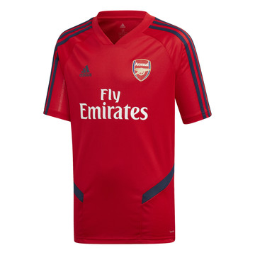 Maillot entraînement junior Arsenal rouge bleu 2019/20
