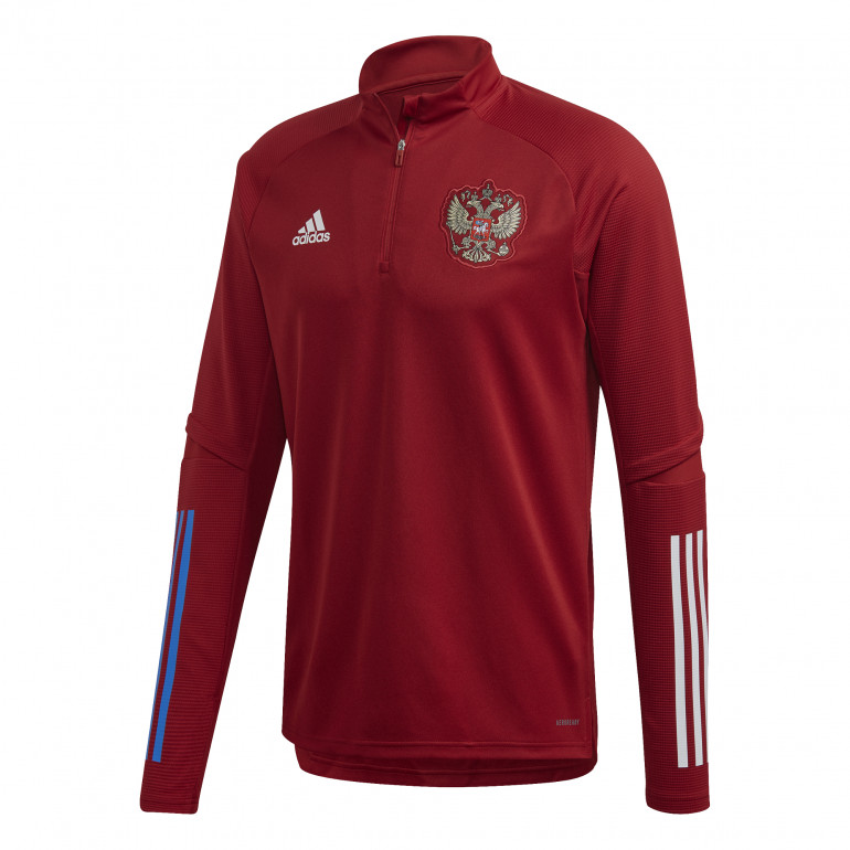 Sweat zippé Russie rouge 2020
