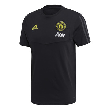 T-shirt Manchester United noir jaune 2019/20