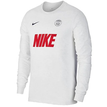 T-shirt manches longues PSG blanc rouge 2019/20