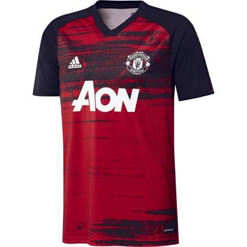 Maillot avant match Manchester United noir rouge 2020/21