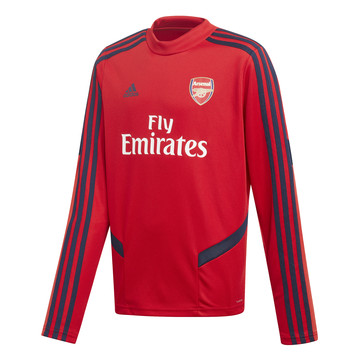 Sweat entraînement junior Arsenal rouge bleu 2019/20