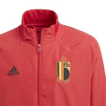 Veste survêtement junior Belgique rouge 2020