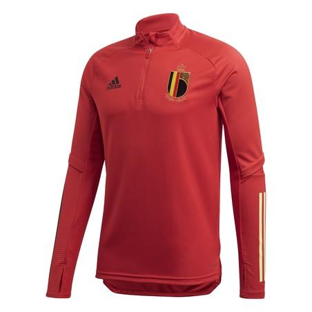 Sweat zippé Belgique rouge 2020