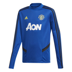 Sweat entraînement junior Manchester United bleu jaune 2019/20