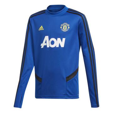 Sweat entraînement junior Manchester United bleu jaune 2019/20