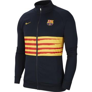 Veste survêtement FC Barcelone I96 noir jaune 2019/20