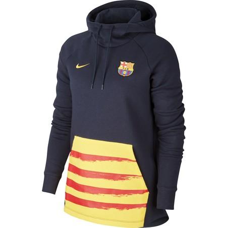 SWEAT FEMME FC BARCELONE GFA FLEECE NOIR JAUNE 2019/20