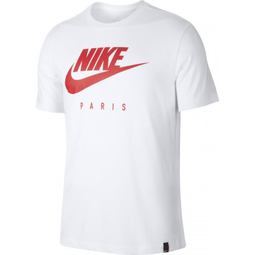 T-shirt PSG Femme blanc rouge 2019/20