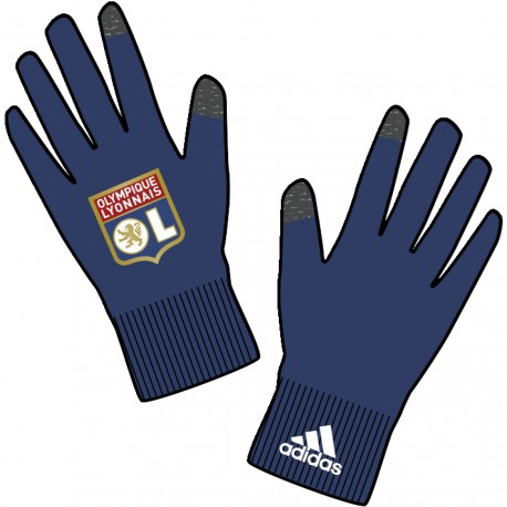 gants 3s ol bleus adidas pas cher sur. Black Bedroom Furniture Sets. Home Design Ideas