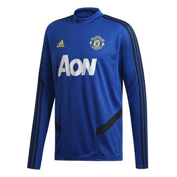 Sweat entraînement Manchester United bleu noir 2019/20