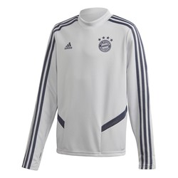 Sweat entraînement junior Bayern Munich gris bleu 2019/20