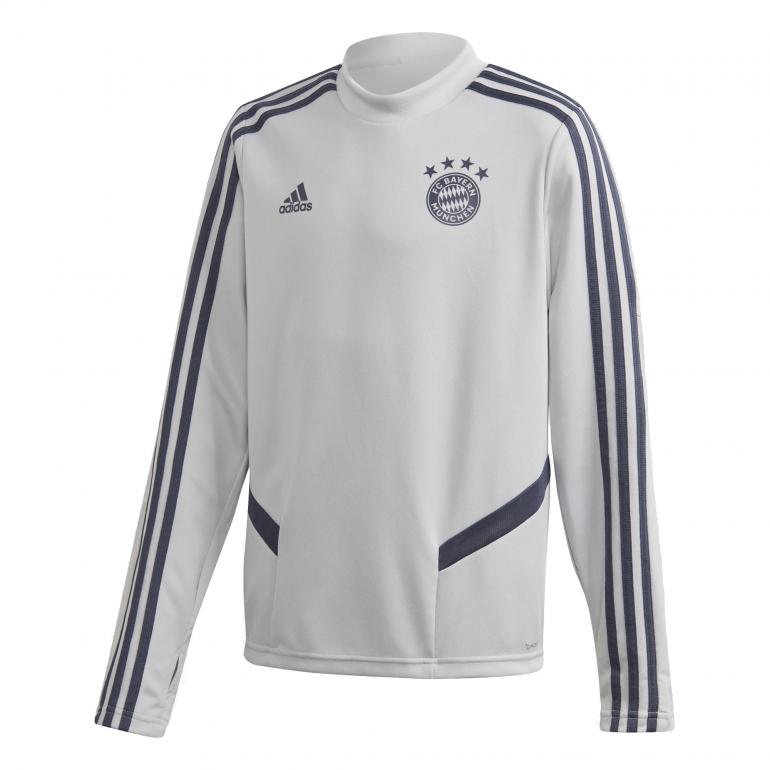 Sweat entraînement junior Bayern Munich gris bleu 2019/20