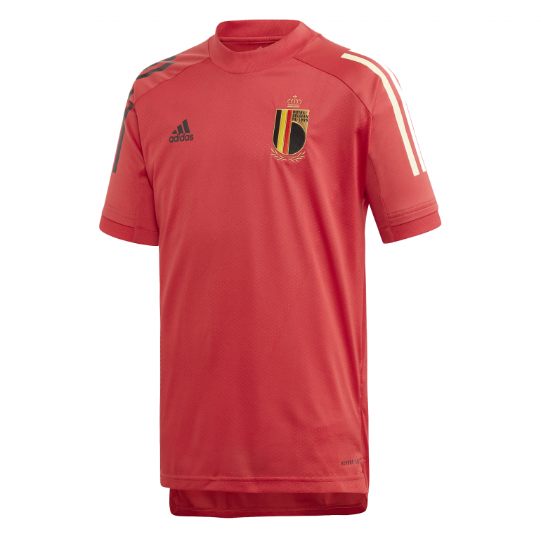 Maillot entraînement junior Belgique rouge 2020