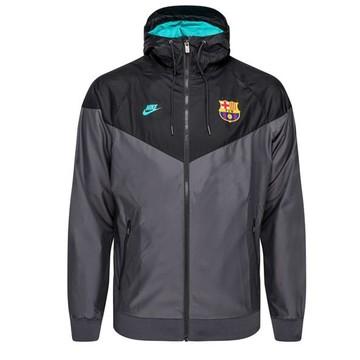 Coupe vent FC Barcelone noir vert 2019/20