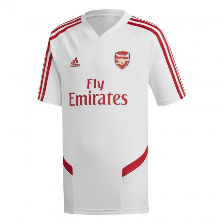 Maillot entraînement junior Arsenal blanc rouge 2019/20