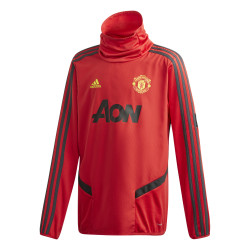 Sweat col montant junior Manchester United rouge 2019/20