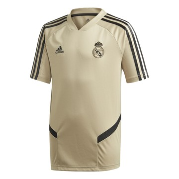Maillot entraînement junior Real Madrid or noir 2019/20